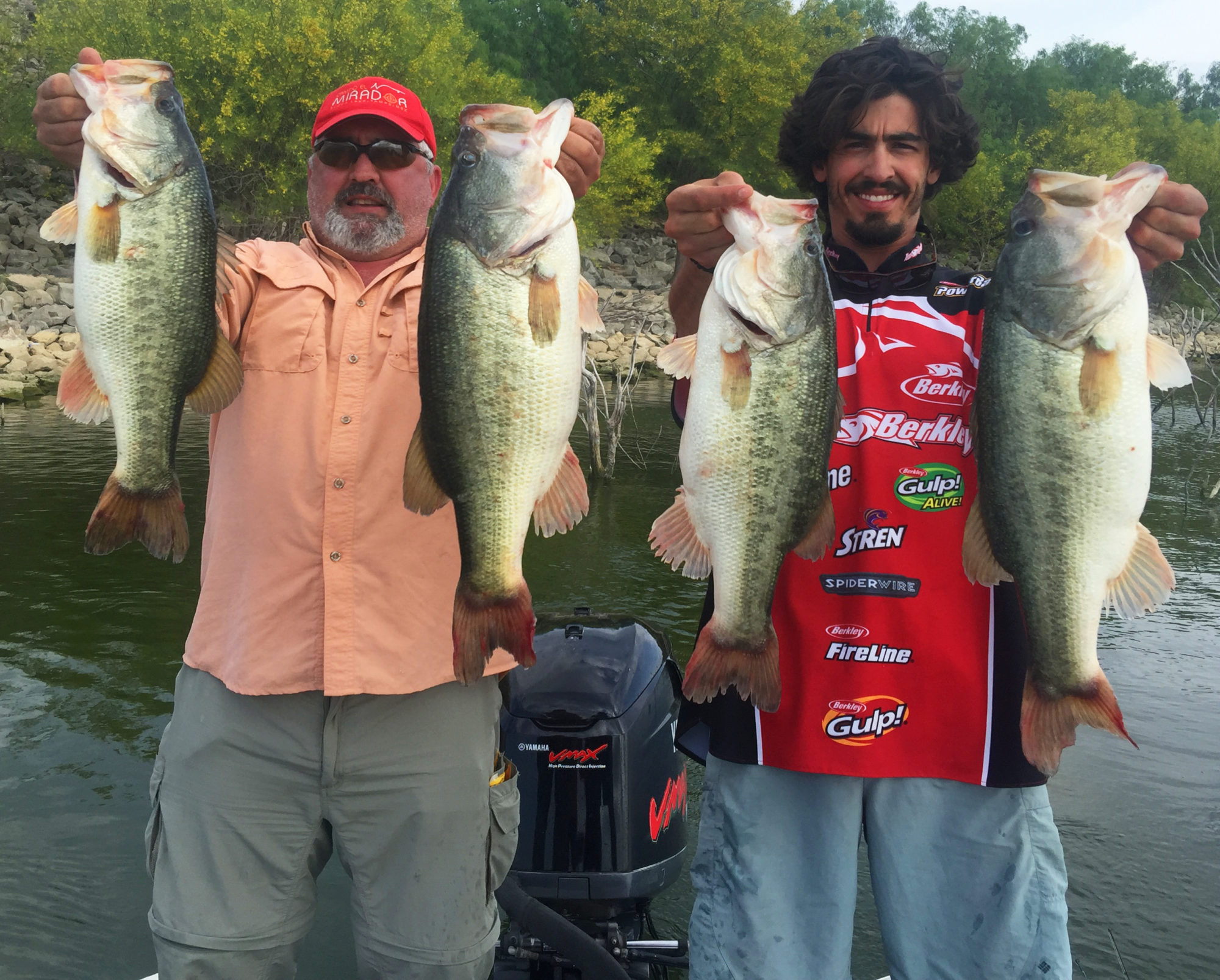Johnny and Andrin with some big bass
